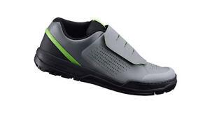 Shimano GR9 - Flat Pedal MTB Shoes - Grey / Green