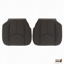 2003-2007 Chevy Silverado 2500 Driver & Passenger Bottom Cloth Seat Covers Gray