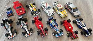 11 Vintage Scalextric cars formula F1 rally Audi BMW Porsche Ferrari Merc + more