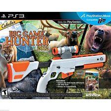 CABELA'S BIG GAME HUNTER 2012 Top Shot Elite Gun & Game PS3 Bundle NEW