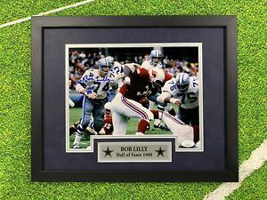 Bob Lilly Signed 8x10 photo Jsa Auto Custom Framed Dallas Cowboys