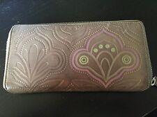 Radley Dorrie Taupe/Brown Zip Around Purse Wallet