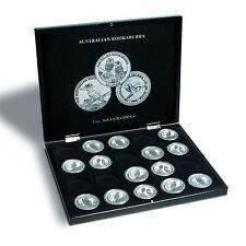 Leuchtturm 346441 Münzkassette für 20 KOOKABURRA Silberunzen In Kapseln schwarz