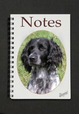 Large Munsterlander Dog Notebook/Notepad with a small image on every page