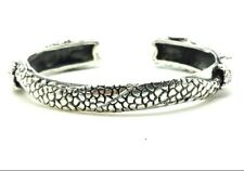 Detailed Dragon Heads Sterling Silver 925 Bracelet 36g 6.5'' BAl713