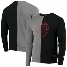 Toronto Raptors New Era Diagonal French Terry Color Block Pullover Sweatshirt -