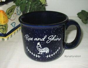 Farmhouse Rooster Rise and Shine Coffee Mug - Tea Cup 12 oz