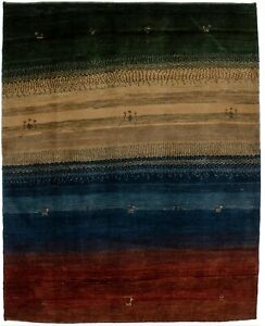 Multicolor Plush Modern 5X6 Tribal Gabbeh Area Rug Oriental Kids Bedroom Carpet