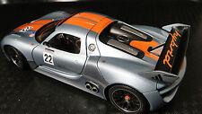 Rare Porsche 911 GT 1 F Exotic Sport Race Car Carrera 18 Racing Carousel Silver