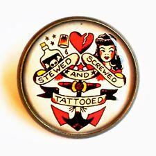 Rockabilly Brooch Retro Pin Up Pin/Badge Tattoo Sailor Jerry Jewellery BN Kitsch
