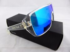 Electric BLAST SHIELD Sunglasses Clear - OHM Grey Blue Chrome Lens