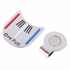 1 only PUTTING ALIGNMENT TOOL GOLF BALL MARKER & HAT CLIP
