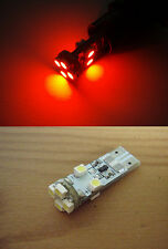 RED 2x 8 SMD LED CAN BUS White Sidelight footwell bulbs T10 W5W warning system