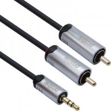 PROLINK 3.5mm Stereo to 2RCA OFC Cable 5M - Gray