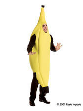 Adult One Size Banana Food Fruit Fancy Dress Costume Stag Do Halloween Brand New