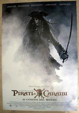 Poster Manifesto ORIGINALE Pirati dei Caraibi- (Ai confini del Mondo) 70x100!