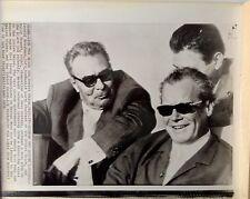 Leonid Brezhnev of USSR with Willy Brandt  of Germany 1971 vintage press photo