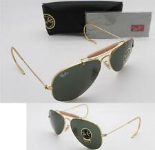 New Authentic Ray-Ban RB 3030 L0216 58mm Outdoorsman Gold Frame / Green G-15