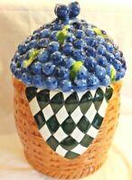 Blueberries in A Basket Cookie Jar