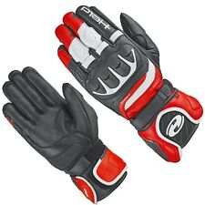 HELD Handschuhe REVEL 2 II schwarz rot weiss Leder Sport Motorrad Gr. 10 / XL
