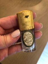 "KERKOFF PARIS DJER KISS PERFUME BOTTLE ORIGINAL LABEL GOLD METAL TOP 2 1/2"""