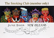 """""""THE SMOKING CLUB"""" Jamie Hayes, SIGNED AND NUMBERED, CIGARETTES. NEW ORLEANS"""