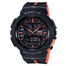 CASIO BABY-G, BGA240L-1A BGA-240L-1A, RUNNING LINE, ANALOG-DIGITAL, BLACK ORANGE