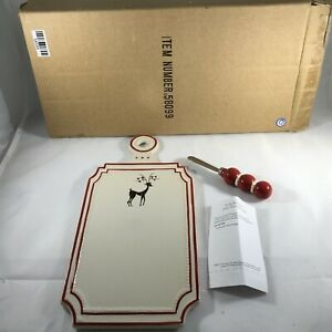 Southern Living At Home Roxy Reindeer Cheese Plate and Spreader #58099