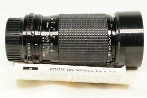 Vintage Pentacon 80-200mm f4.5 Zoom Telephoto Lens. PB Fit. GWO. Case & Hood