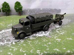 Vintage Dinky Military Army 412 Austin truck & field gun . Code 3.