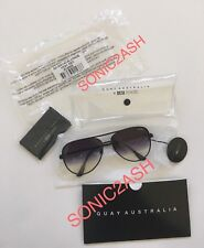 NEW AUTHENTIC QUAY AUSTRALIA HIGH KEY Black Fade Sunglasses Desi Perkins Aviator
