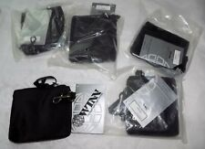 LOT 5 NEW Winn International Black ZIP & CLASP NYLON POUCH BAG CASE  COIN WALLET
