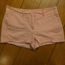 SANDRO Womens pink and white stripe Cotton Casual Shorts w/ Pockets Size 8