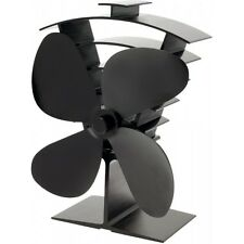 Valiant Premium 4 Heat Powered Stove Fan FIR 361 BLACK NEXT DAY DELIVERY