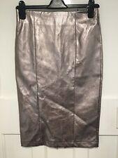 NEXT Silver Metallic Pencil Skirt Size 6 BNWT