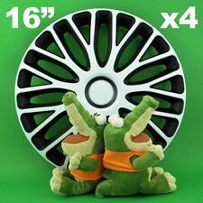 """Enjoliveurs 16"""" Mugello ★ 4 pièces ★ BLANC+NOIR pour VW Beetle Passat Sharan"""