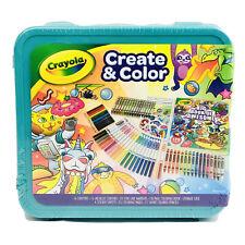 Crayola Epic Create & Color Art Case 75 Pieces Stickers, Markers, Crayons,