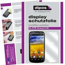 2x ZTE Grand X IN Schutzfolie klar Displayschutzfolie Folie dipos Displayfolie