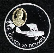 Beautiful 1992 Canada Gypsy Moth $20 Proof Commemorative Silver Coin