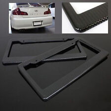 Universal Plastic ABS Black License Plate Tag Frame for Auto Car Truck SUV Cover