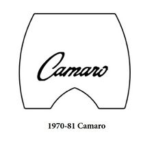 1970 1981 Chevy Camaro Trunk Rubber Floor Mat Cover with G-022 Camaro