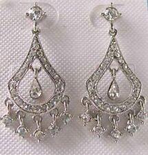 Women/'s orecchini a perno Polsini Gold Filled MARGHERITA NERO FIORE CZ Fiocco UK Venditore