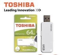 Toshiba TransMemory U203 64GB USB 2.0 Flash Slide Stick Memory Drive White New