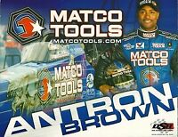 """2010 Antron Brown Matco Tools """"1st issued"""" Top Fuel NHRA postcard"""
