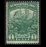 canada stamps - 1919 newfoundland - 1 cent green - mint NG - sg130 caribou