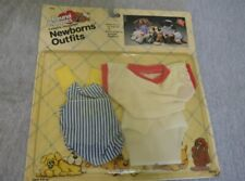 1986 Vintage Tonka Pound Puppy Newborn Outfit Dog Clothes Overalls Diaper Shirt