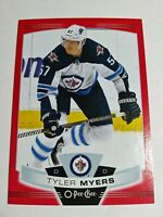2019-20 Upper Deck O-Pee Chee Tyler Myers Red Border Blank Back Parallel