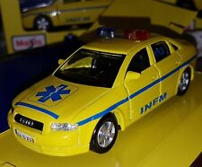 MAISTO MINIATURE EMERGENCY VOITURE PORTUGAL INEM AUDI A4 METAL ECHELLE 1:42 NEUF