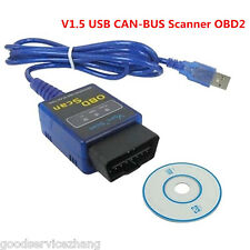 ELM 327 Car Diagnostic fault code reader V1.5 USB CAN-BUS Scanner Software OBD2
