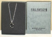 Final Fantasy Ⅶ 7 Black Materia Meteor official Silver Necklace Pendant Rare